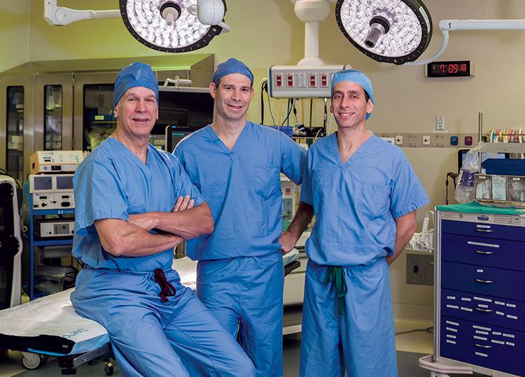 Dr. Jeffrey Geller with fellow surgeons